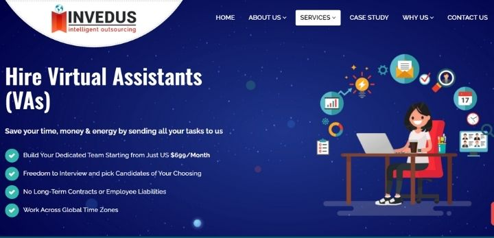 hiring a virtual assistant india from Invedus