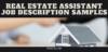 real estate assistant job description samples blog