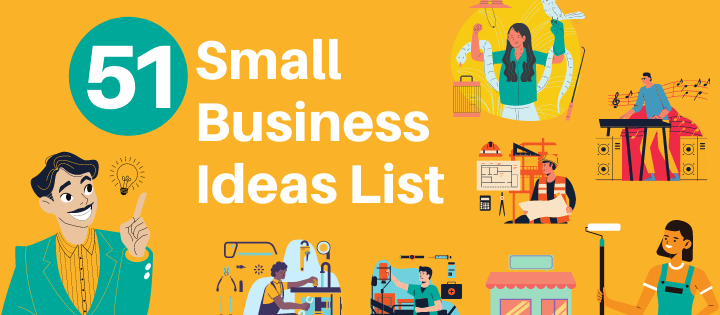 51 great small business ideas list | creative small business by invedus