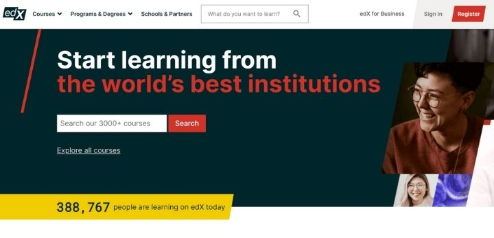 edx online learning platforms