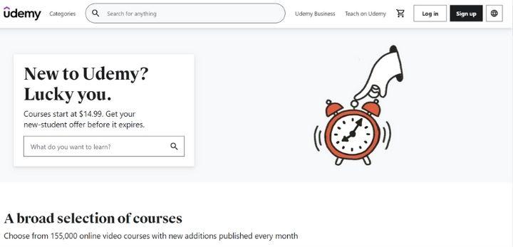 udemy online learning platforms